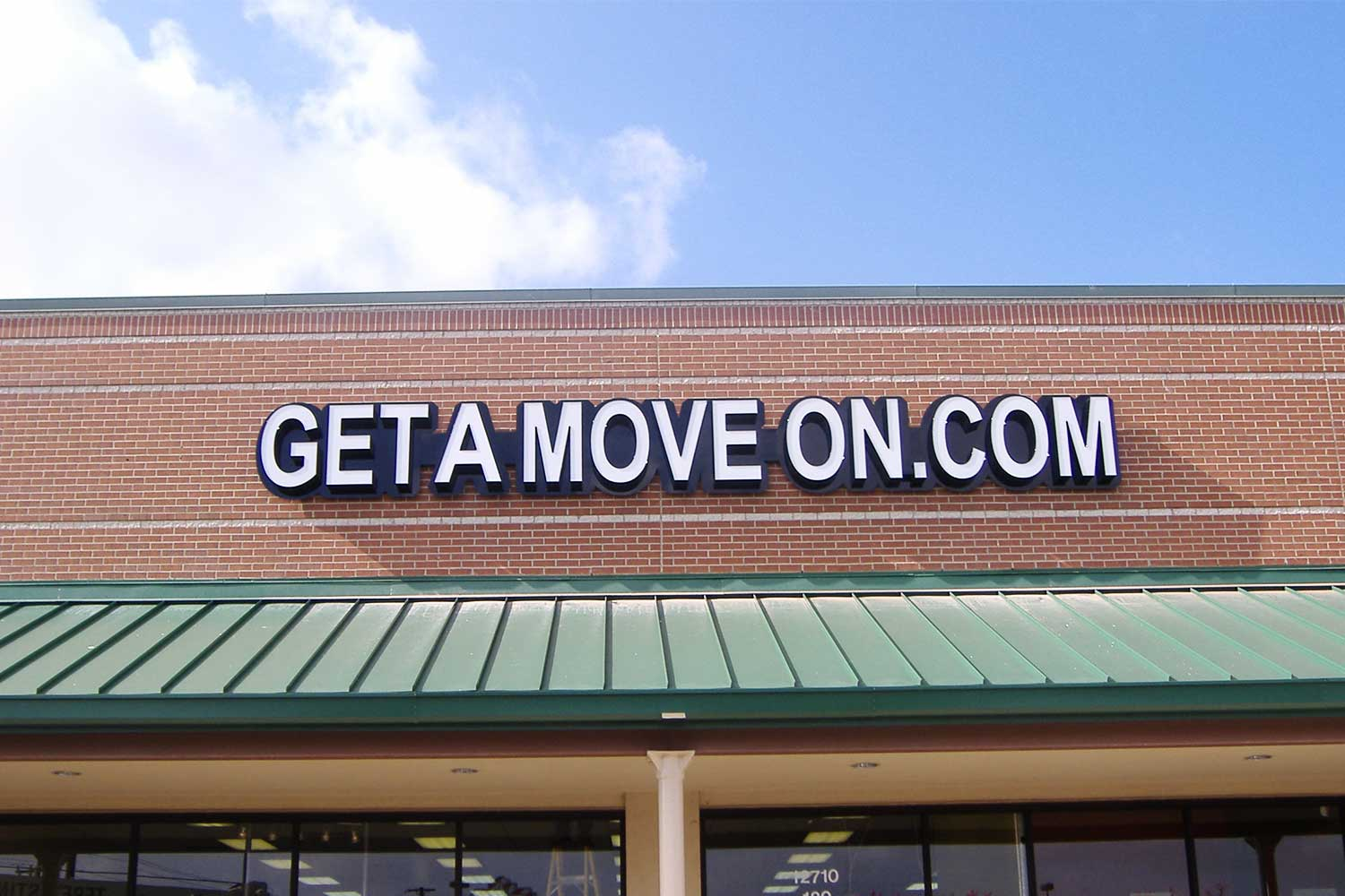 get a move on exterior signage
