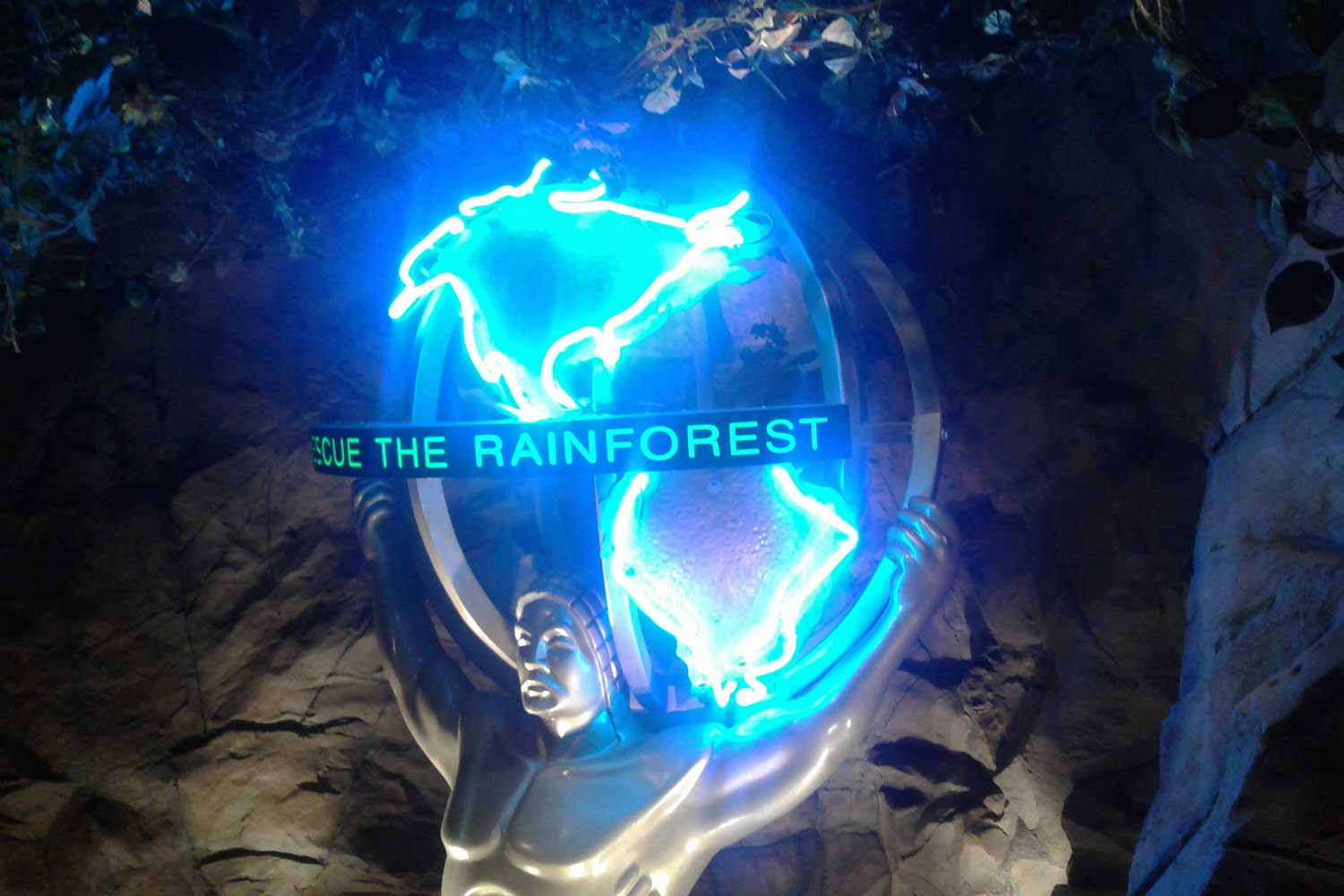 rainforest cafe neon sign repair servic